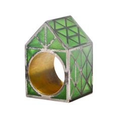 Beate-Klockmann-The-Green-House-ring-gold-silver-and-enamel-2013