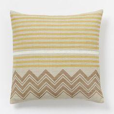On darker couch? Hand–Blocked Chevron Pillow Cover – Horseradish   West Elm