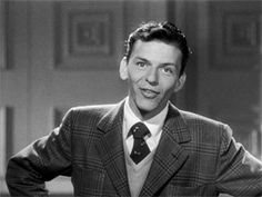 """Frank Sinatra performs """"There'll Be a Hot Time in the Town of Berlin"""" in the short film The Shining Future Golden Age Of Hollywood, Vintage Hollywood, Classic Hollywood, Nancy Sinatra, Young Frank Sinatra, Bobby Darin, Old Movie Stars, Gene Kelly, Dean Martin"""