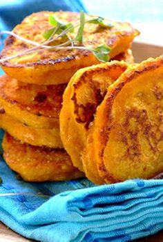 Low FODMAP and Gluten Free Recipe - Pumpkin, sage & Parmesan fritters  - http://www.ibssano.com/low_fodmap_recipe_pumpkin_sage_parmesan_fritters.html