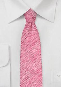 Trendy Skinny Tie in Azalea Pink Color, $29.90 | Cheap-Neckties.com