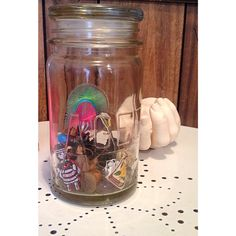 Put a stopper in your mason or agee jar then fill with tidbits from your various adventures