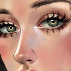 Ruby Caurlette is a 17 years old self-taught digital artist, from Syria. She makes impressive digital portrait drawings. Digital Art Girl, Digital Portrait, Portrait Art, Girly Drawings, Realistic Drawings, Dibujos Tumblr A Color, Foto 3d, Digital Art Tutorial, Aesthetic Art