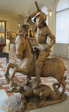 Tilman riemenschneider, san giorgio e il drago, ca. - Category:Saint George and the Dragon by Tilman Riemenschneider - Wikimedia Commons Medieval Art, Renaissance Art, Saint George And The Dragon, Saint Georges, Effigy, Schneider, Monster, National Museum, Religious Art