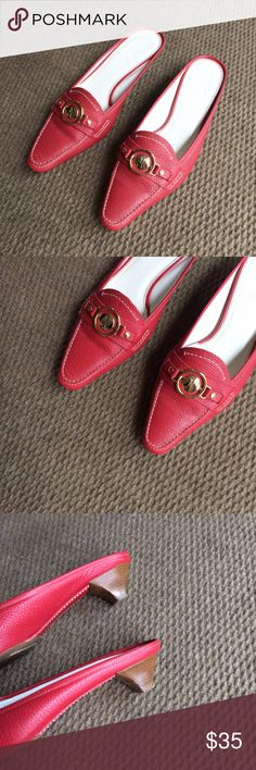 Cole Haan Red Shoes Small heel. Very good condition. Cole Haan Shoes Heels