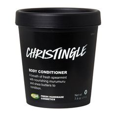 Christingle Body Conditioner: After soaping up and rinsing off, smooth this pale blue peppermint and menthol crystal body conditioner all over to hydrate and cool the skin.