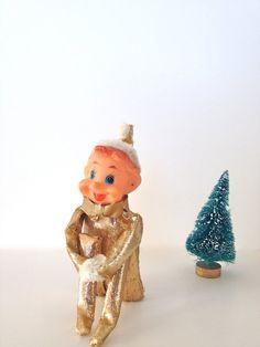 Sparkles a Mid Century Elf on the Shelf Knee Hugger by dAdAStudio