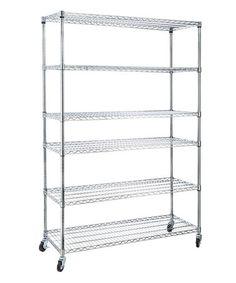 This Six-Shelf Utility Cart is perfect! #zulilyfinds. $129.99. 500# weight limit