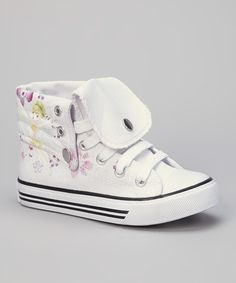 Take a look at this White Flower Hi-Top Sneaker by Collection'O on #zulily today!