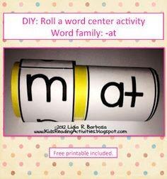 Kinder Alphabet: DIY: Roll A Word Activity