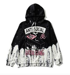 Pastel Goth Anti-social Skull Hoodie · Sandysshop · Online Store Powered by Storenvy Pastel Goth Anti-social Skull Hoodie One Size Length: 66 cm Bust: Sleeve Length: 60 cm Shoulder Width: 42 cm Please allow business days to process the order Vêtements Goth Pastel, Pastel Goth Fashion, Gothic Fashion, Pastel Goth Clothes, Emo Fashion, Lolita Fashion, Pastel Goth Makeup, Fashion Online, Pastel Blue