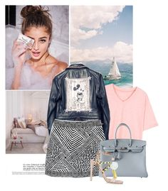 """34"" by yerina ❤ liked on Polyvore featuring Prada, Hermès and River Island"