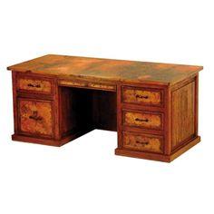 Copper Collection - Executive 5-Drawer Desk - DSK-13CU #desk #copper #furniture