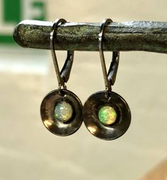 A personal favorite from my Etsy shop https://www.etsy.com/listing/595583477/opal-earrings-oxidized-sterling-silver