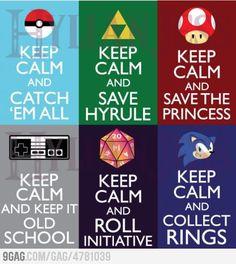 Keep Calm and Play Video Games !!    www.facebook.com/vodacom4u