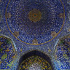the main dome of the Jame Abbasi Mosque on the Naqsh-e Jahan Square in Isfahan, Iran