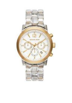 Michael Kors  Womens Clear Acetate Audrina Watch