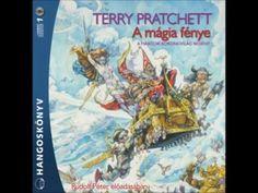 Terry Pratchett: A mágia fénye - hangoskönyv - YouTube Terry Pratchett, Comic Books, Comics, Cover, Youtube, Cartoons, Cartoons, Comic, Comic Book