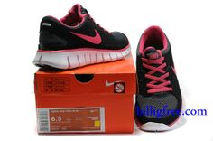 new products a6a4f 33415 Billig Schuhe Damen Nike Free Run + (Farbe Vamp-schwarz,grau,innen,Logo-rot Sohle-weiB)  Online in Deutschland.