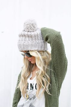7 Ideas On What To Wear With Your Knitted Fall Staples Knit Beanie 3c5df05306a7
