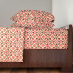 Langshan Sheet Set featuring Seashells Kaleidoscope by linda_baysinger_peck | Roostery Home Decor
