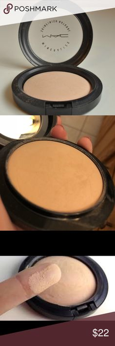 Mac Mineralized Skinfinish- Medium Used one time/ never touched again. Color too dark for my skin tone.   Description: MAC Mineralize Skinfinish, Medium Plus A luxurious domed face powder Slowly baked & blended with minerals Gives a dimensional yet natural matte finish Provides low coverage Ideal for setting & fixing foundation or uses as a touch-up throughout the day. MAC Cosmetics Makeup Face Powder