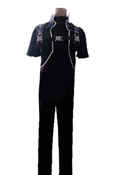 Halloween Men's Sterben Costume Outfit Suit for GGO Cosplay Black XL *** Read more @