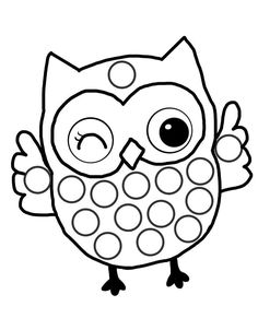 PonPon Yapıştırma Etkinliği İçin Boyama Sayfaları - Okul Öncesi Etkinlik Faliyetleri - Madamteacher.com