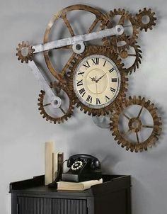 Clock, dial, telephone, oldie, antique, books, time goes by