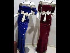 9a63b7283d875 أجمل موديلات قنادر قطيفة باللون الأزرق 2017. المرأة العربية