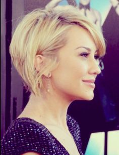 Chelsea Kane Should I go short like this in the back?!  What about the color!?