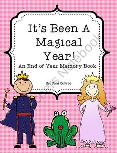 An end of the year memory book with a fairy tale theme.
