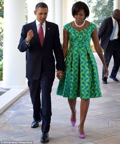 First Lady Style Michelle Obama: 2009 to Present Latest African Fashion Dresses, African Print Dresses, African Print Fashion, African Dress, African Attire, African Wear, African Women, Michelle Obama Fashion, Barack And Michelle