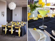Modern Yellow & Slate Wedding Inspiration @Diane B