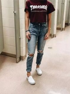 trendy outfits for school * trendy outfits . trendy outfits for school . trendy outfits for summer . trendy outfits for women . trendy outfits for fall . Skater Girl Outfits, Teenage Girl Outfits, Teen Fashion Outfits, Teenager Outfits, Mode Outfits, Fashion Ideas, Fashion Fashion, Fashion Vintage, Skater Girl Fashion