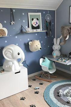 Star pillow to buy on Etsy - Happy Spaces Workshop - boys room decor ideas scandinavian style ikea eames # Toddler Room Decor, Baby Boy Room Decor, Toddler Rooms, Nursery Room Decor, Baby Boy Rooms, Kids Bedroom, Room Boys, Mint Nursery, Ikea Playroom