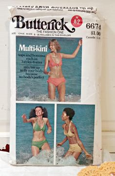 Vintage Pattern | Misses Swimsuit One Size 6 - 16 by LittleBohoCottage on Etsy $5.99