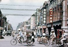 Taiwan street in the 1950s
