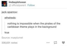 ok so anytime i play outlast and im being chased i always scream/sing the pirates of the caribbean theme>> that theme makes me feel SO HYPED I love it so much Funny Quotes, Funny Memes, Hilarious, Jokes, Johny Depp, Dc Movies, Infp, Pirates Of The Caribbean, The Villain