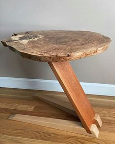 From @samshep76. Taking new angles on the side table. Tag a friend who'd love this! #bestIGwoodworking