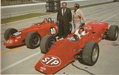 Parnelli Jones, Andy Granatelli, Colin Chapman and Jim Clark. And turbines at Indy.