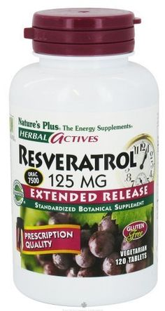 Natures Plus  Herbal Actives Resveratrol 125mg Extended Release 1Pack of 120 >>> Click image for more details.