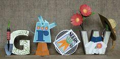 "Needles 'n' Knowledge: ""GROW"" 3d Letter Box Ensemble"