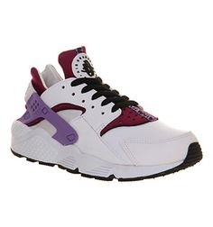 Nike Air Huarache White Black Bright Magenta - His trainers