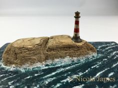 Your place to buy and sell all things handmade Paper Doll House, Lighthouse Art, Table Rock, Driftwood Art, Driftwood Ideas, Glitter Houses, Gift Table, Little Boxes, Nature Crafts