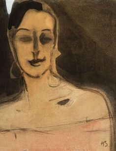 A woman with style and a sense of fashion - Helene Schjerfbeck , n/d Finnish, 1862 ~ 1946 Shirn Kunsthalle Frankfurt Helene Schjerfbeck, Abstract Portrait, Portrait Art, Portraits, Art Society, True Art, Life Drawing, Figure Painting, Artist Art