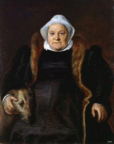 Frans Floris, Retrat d'una vella dama. 1558. Oli sobre tela, ?. Caen: Musée des Beaux-Arts de Caen.