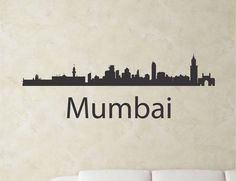 SlapArtMumbai India city skyline Vinyl Wall by VinylMasterpieces $15.99