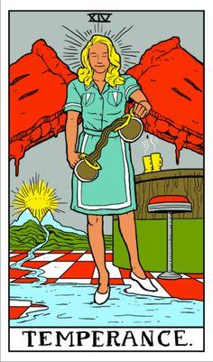 Twin Peaks Tarot    ©Benjamin Mackey, published with permission