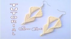 """Tutorial macramè orecchini """" Cora""""/ Tutorial macramè earrings """"Cora""""/ Di..."""